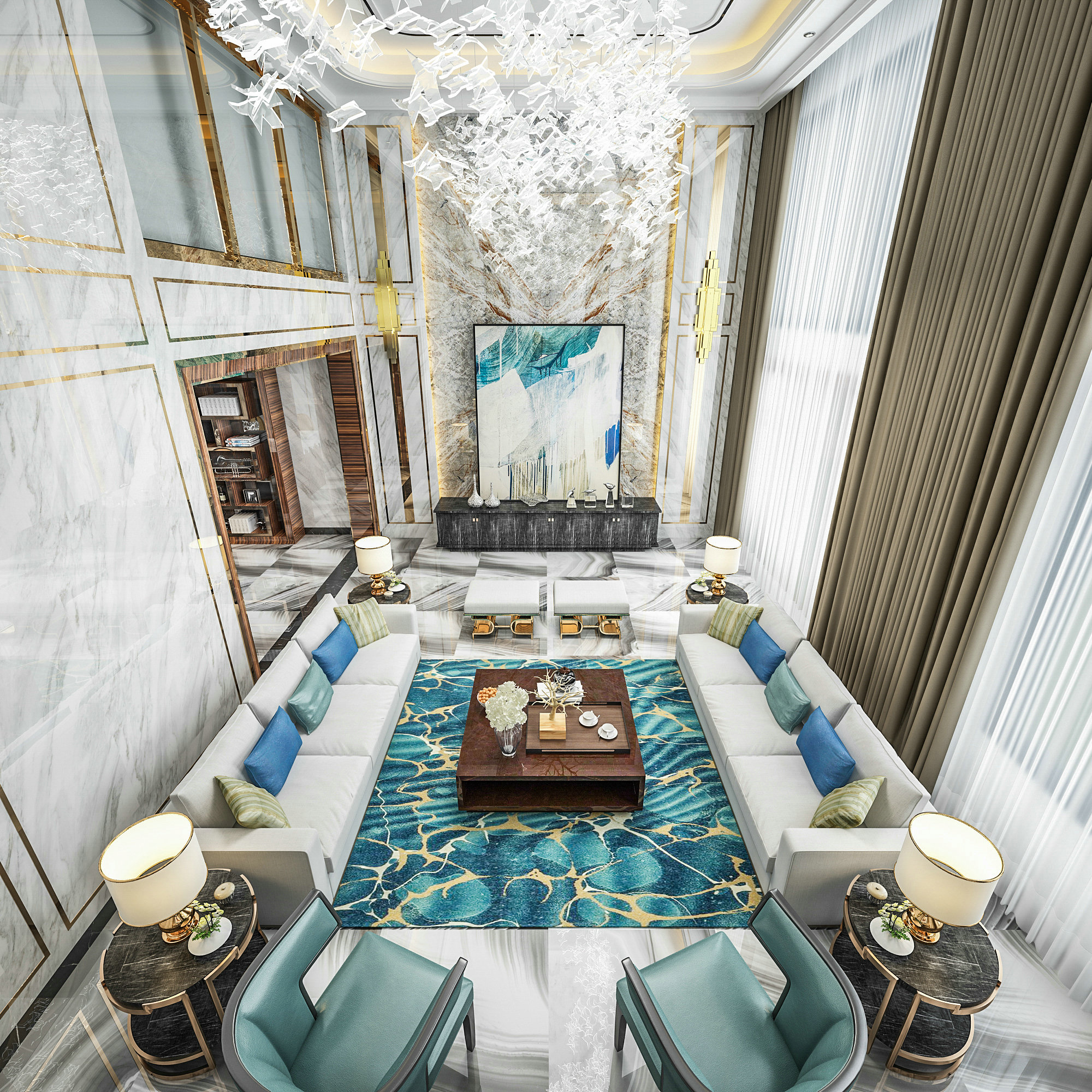 联恒名人世 别墅装修 现代风格 腾龙设计 客厅图片来自孔继民在恒联名人世家别墅装修现代风格的分享