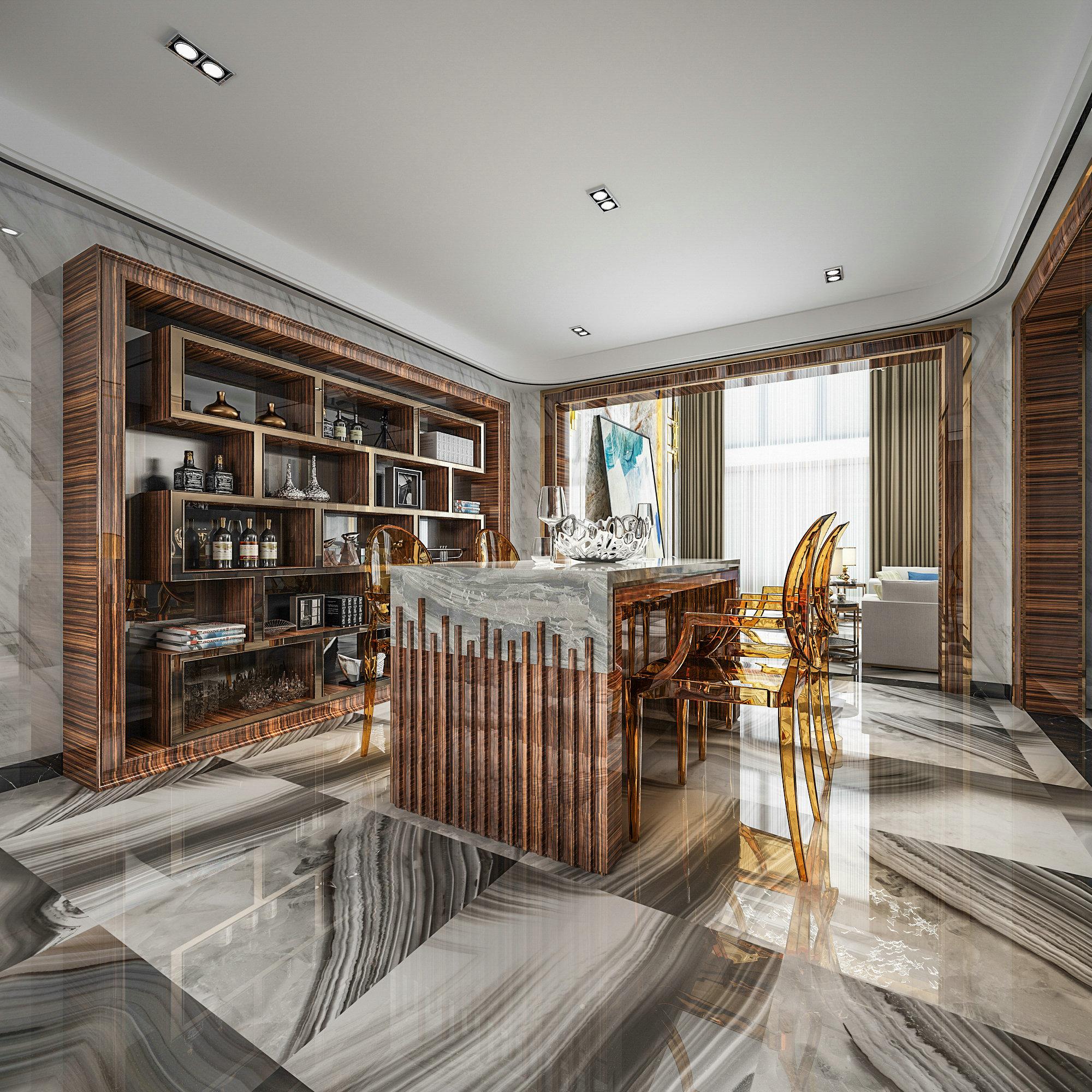 联恒名人世 别墅装修 现代风格 腾龙设计 餐厅图片来自孔继民在恒联名人世家别墅装修现代风格的分享
