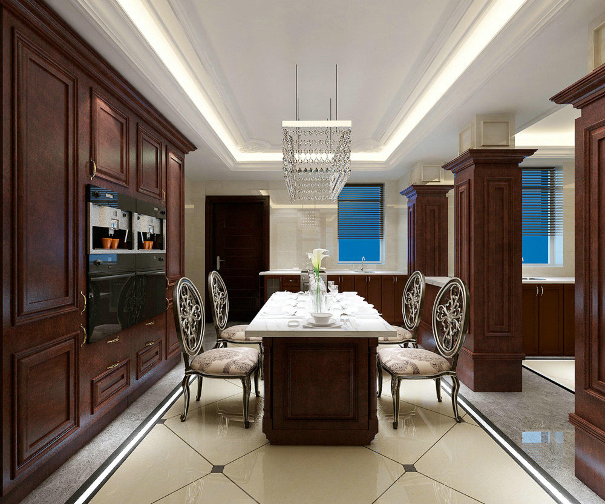 东方夏威夷 别墅装修 欧美古典 腾龙设计 餐厅图片来自孔继民在东方夏威夷别墅装修美式古典的分享