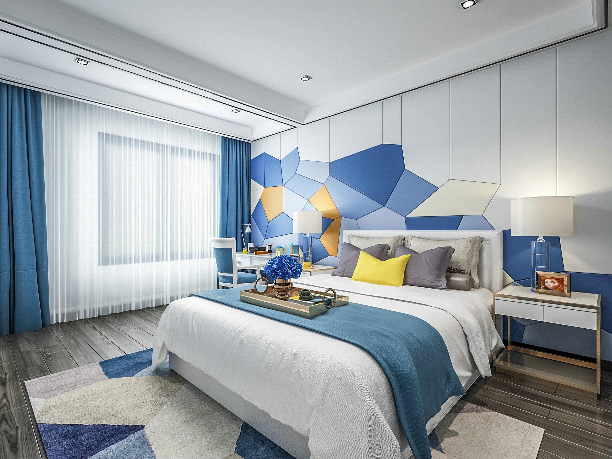 联恒名人世 别墅装修 现代风格 腾龙设计 卧室图片来自孔继民在恒联名人世家别墅装修现代风格的分享