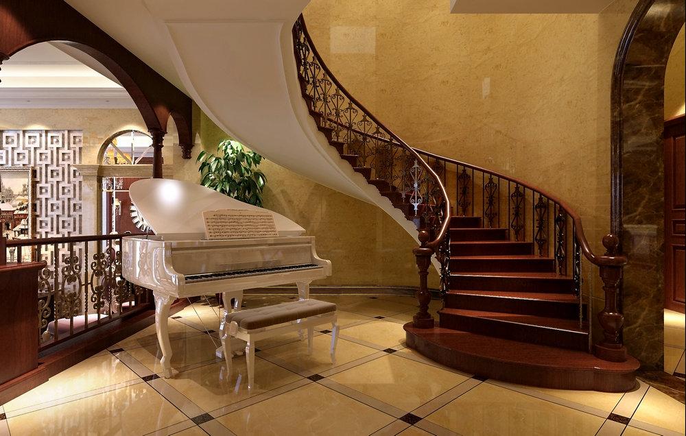 东海御庭 别墅装修 新中式古典 腾龙设计 楼梯图片来自孔继民在东海御庭500平别墅装修新中式的分享
