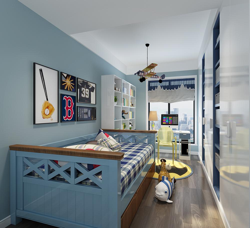 简约 三居 收纳 旧房改造 80后 小资 儿童房图片来自装家美在中正锦城160平米港式风格的分享