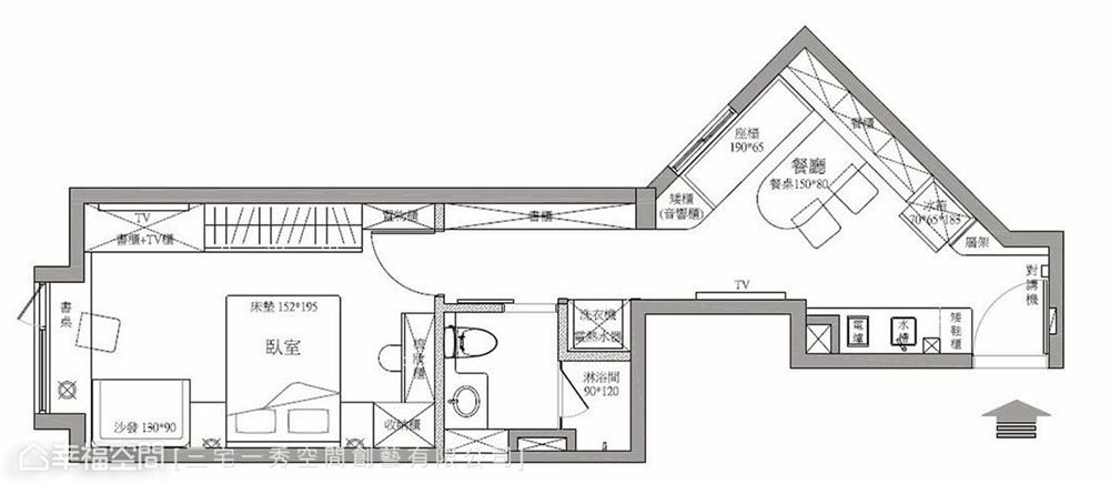 小资 80后 旧房改造 收纳 白领 新古典 户型图图片来自幸福空间在40平,打造高CP值新婚古典宅的分享