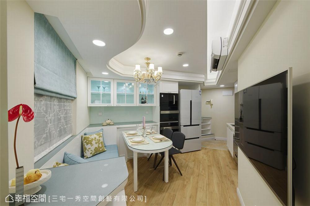 小资 80后 旧房改造 收纳 白领 新古典 餐厅图片来自幸福空间在40平,打造高CP值新婚古典宅的分享