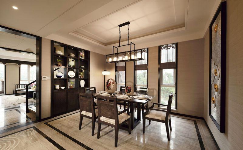 湖畔佳苑 别墅装修 中式风格 腾龙设计 餐厅图片来自孔继民在湖畔佳苑别墅装修新中式风格设计的分享