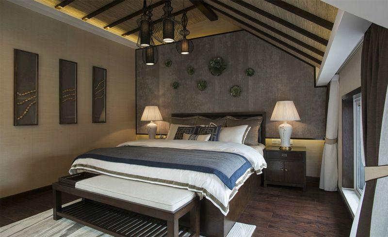 湖畔佳苑 别墅装修 中式风格 腾龙设计 卧室图片来自孔继民在湖畔佳苑别墅装修新中式风格设计的分享