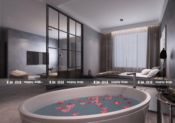 三居 二十四城 工业风格 卧室图片来自百家设计小刘在华润二十四城124平工业风格的分享