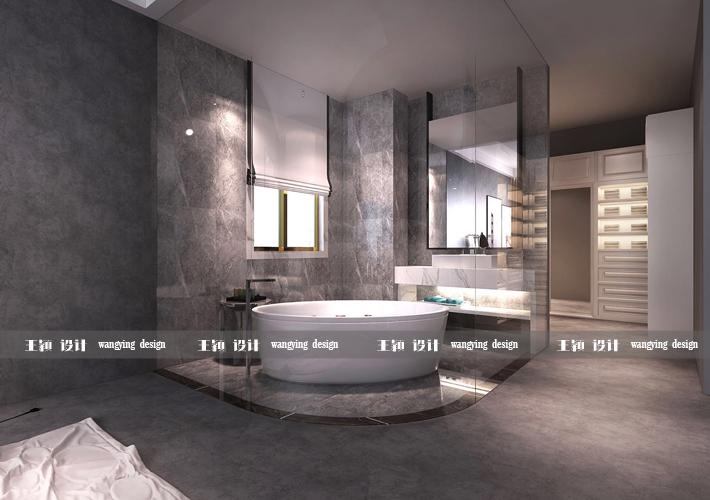 三居 二十四城 工业风格 卫生间图片来自百家设计小刘在华润二十四城124平工业风格的分享