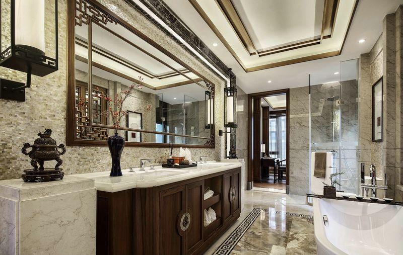 汤臣湖庭花 别墅装修 中式风格 腾龙设计 卫生间图片来自孔继民在别墅装修中式风格设计案例的分享