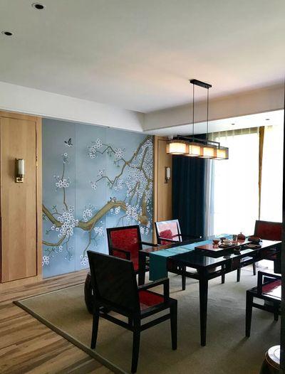 大豪山林 别墅装修 上海腾龙设 新中式风格 餐厅图片来自孔继民在大豪山林别墅新中式风格设计的分享