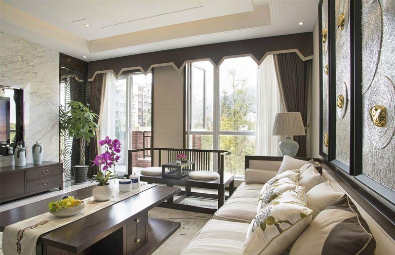 湖畔佳苑 别墅装修 中式风格 腾龙设计 客厅图片来自孔继民在湖畔佳苑别墅装修新中式风格设计的分享