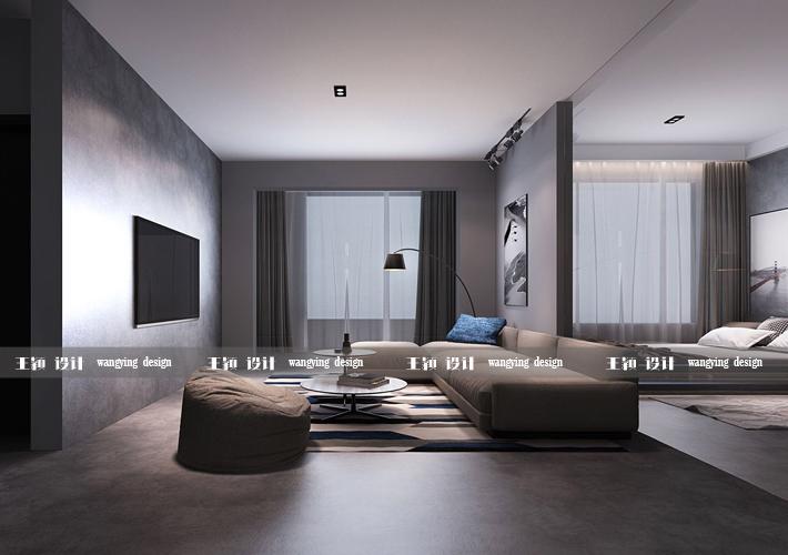 三居 二十四城 工业风格 客厅图片来自百家设计小刘在华润二十四城124平工业风格的分享