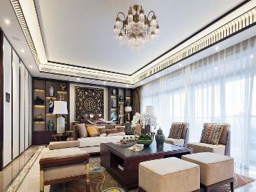 大豪山林别墅装修东南亚风格
