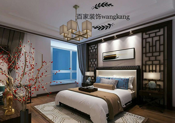 客厅图片来自沈阳百家装饰小姜在保利达江湾城138平新中式风格的分享