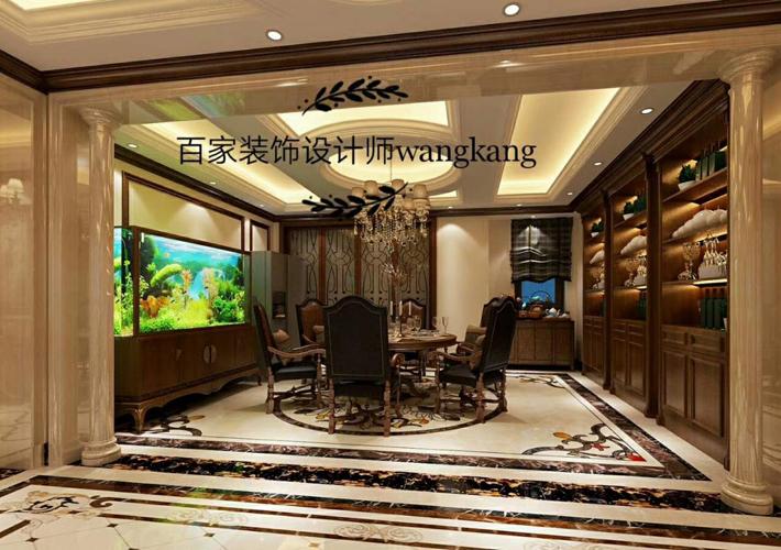 餐厅图片来自沈阳百家装饰小姜在保利海上五月花142平欧式风格的分享