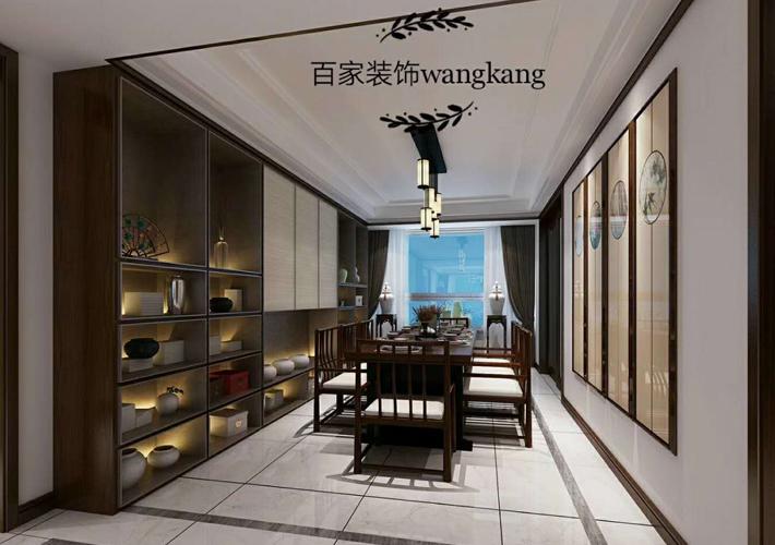 餐厅图片来自沈阳百家装饰小姜在保利达江湾城138平新中式风格的分享