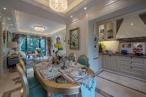 美式 现代 四居 大户型 跃层 复式 别墅 80后 小资 餐厅图片来自高度国际姚吉智在160平米现代美式奢雅魅力居家的分享