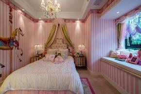 美式 现代 四居 大户型 跃层 复式 别墅 80后 小资 儿童房图片来自高度国际姚吉智在160平米现代美式奢雅魅力居家的分享