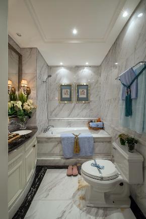 美式 现代 四居 大户型 跃层 复式 别墅 80后 小资 卫生间图片来自高度国际姚吉智在160平米现代美式奢雅魅力居家的分享