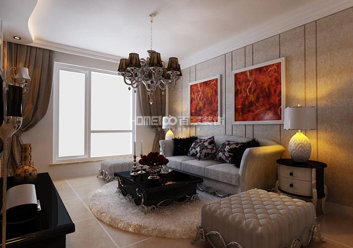 二居 中海城 96 客厅图片来自百家装饰LL在中海城 96的分享