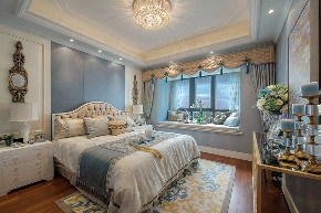 美式 现代 四居 大户型 跃层 复式 别墅 80后 小资 卧室图片来自高度国际姚吉智在160平米现代美式奢雅魅力居家的分享