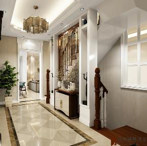 混搭 别墅 跃层 复式 大户型 80后 小资 玄关图片来自高度国际姚吉智在华远和墅400平米混搭本色生活的分享