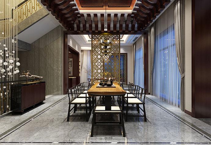 别墅装修 中式古典 腾龙设计 餐厅图片来自孔继民在青浦品臻临湖别墅中式风格设计的分享