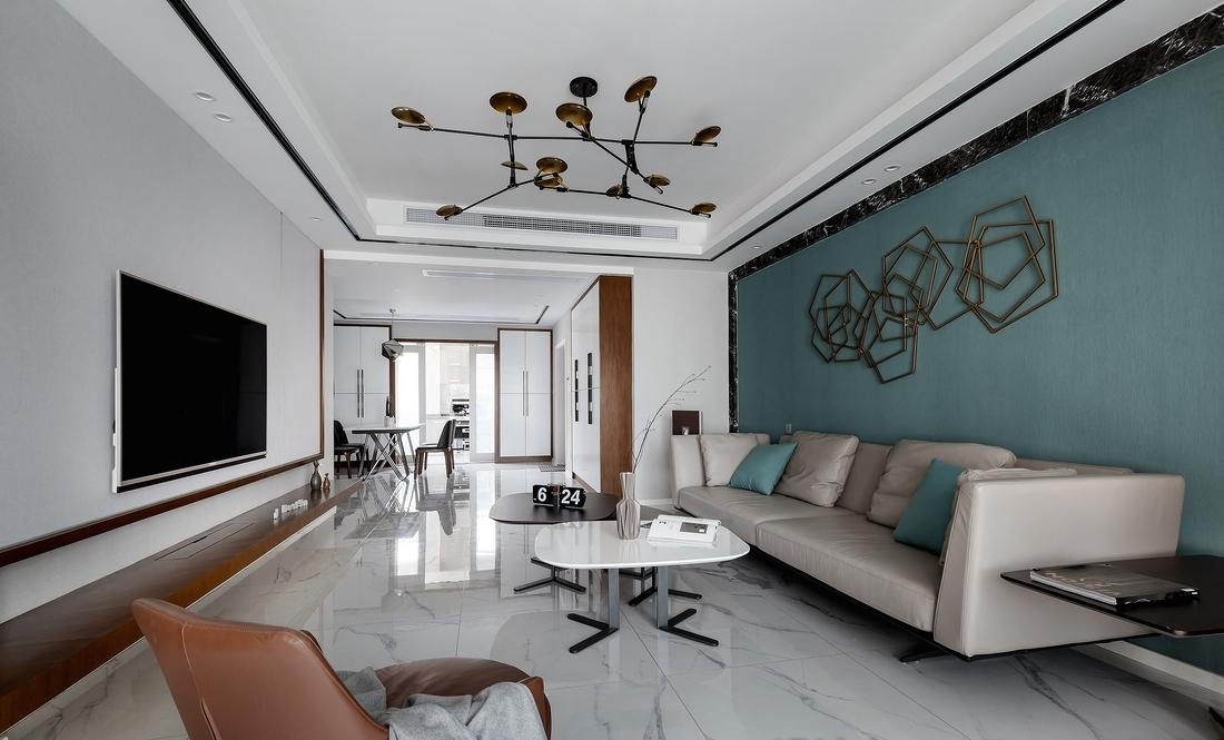 四居 客厅图片来自言白设计在湖蓝的分享