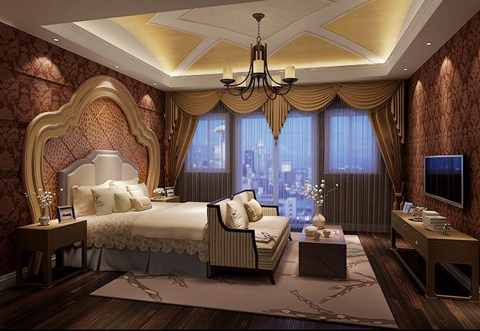 揽海高尔夫 别墅装修 新古典 腾龙设计 卧室图片来自孔继民在揽海高尔夫500平别墅新古典设计的分享
