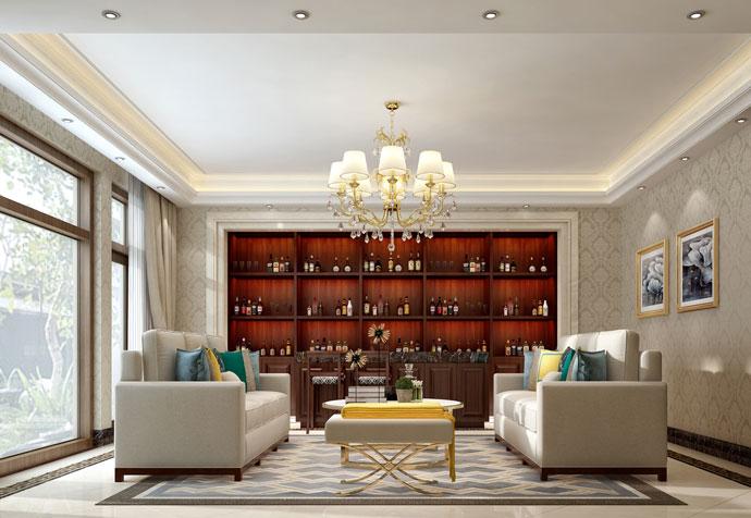 别墅装修 混搭风格 腾龙设计 春江美庐 客厅图片来自孔继民在万科琥珀郡园别墅装修设计案例的分享
