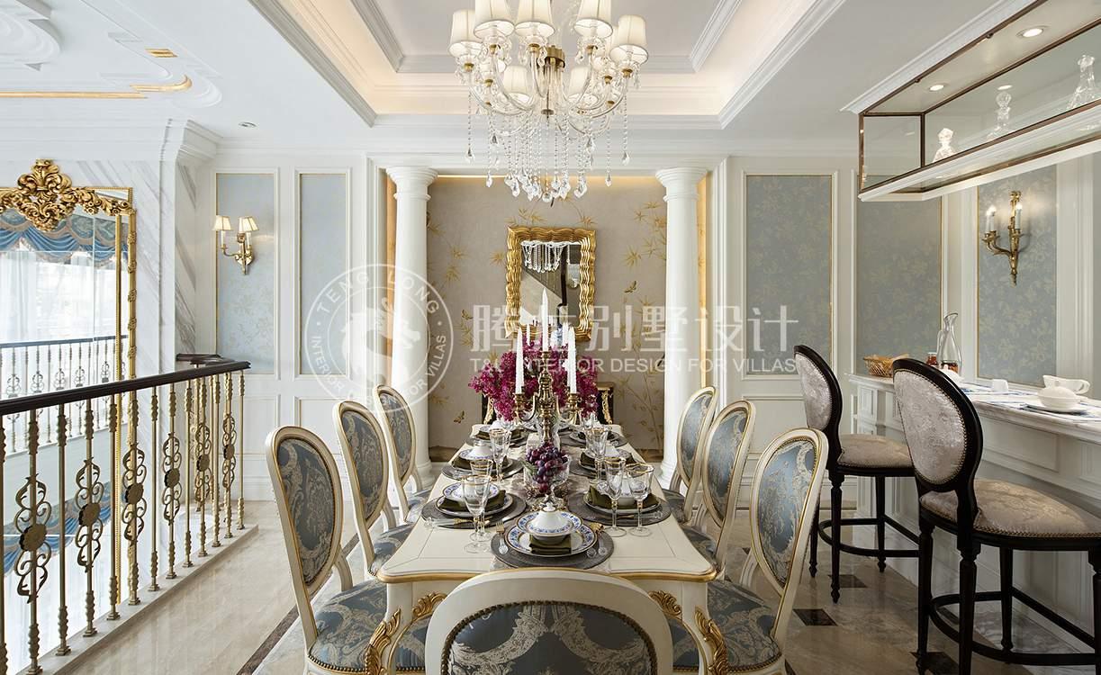 茶园别墅 装修设计 欧式风格 腾龙设计 餐厅图片来自孔继民在茶园别墅383平新古典欧式风格的分享