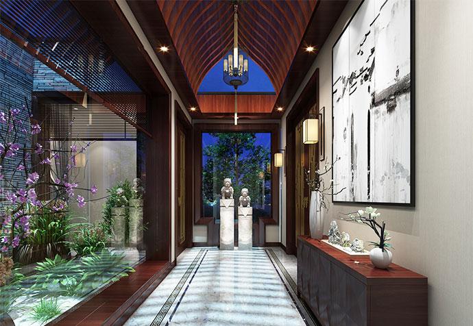 别墅装修 中式古典 腾龙设计 玄关图片来自孔继民在青浦品臻临湖别墅中式风格设计的分享