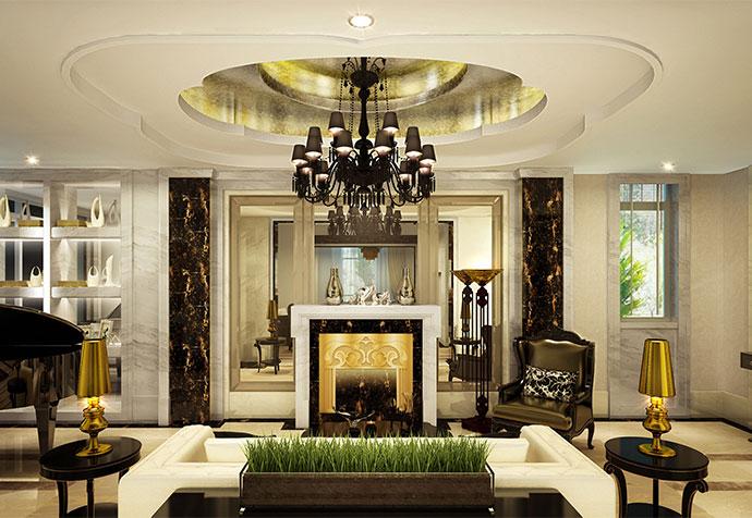 白金瀚宫 别墅装修 现代风格 腾龙设计 客厅图片来自孔继民在白金瀚宫800平别墅现代风格设计的分享