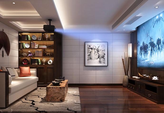 宝山别墅 新中式风格 腾龙设计 其他图片来自孔继民在宝山区宝山别墅350平新中式设计的分享
