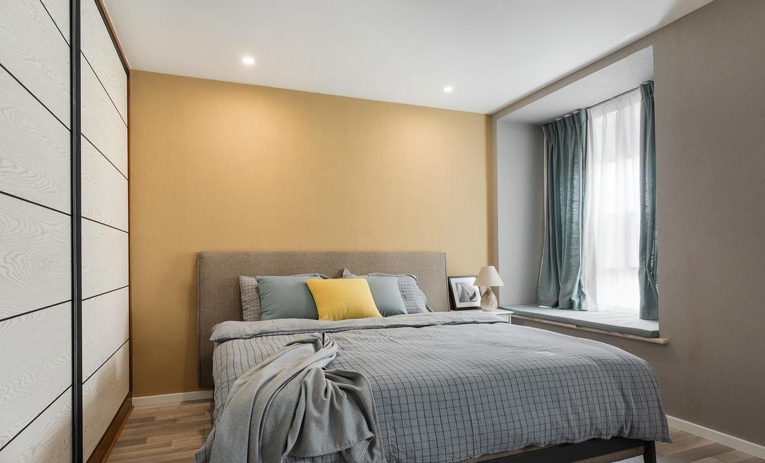 四居 卧室图片来自言白设计在湖蓝的分享