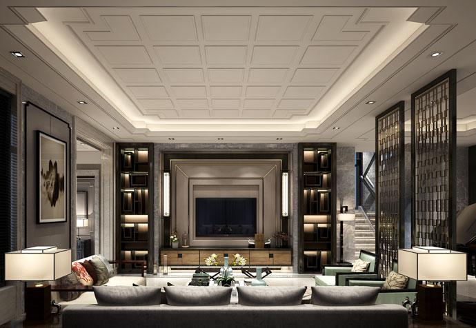 青浦海上湾 别墅装修 新中式风格 腾龙设计 客厅图片来自孔继民在青浦海上湾别墅新中式设计的分享