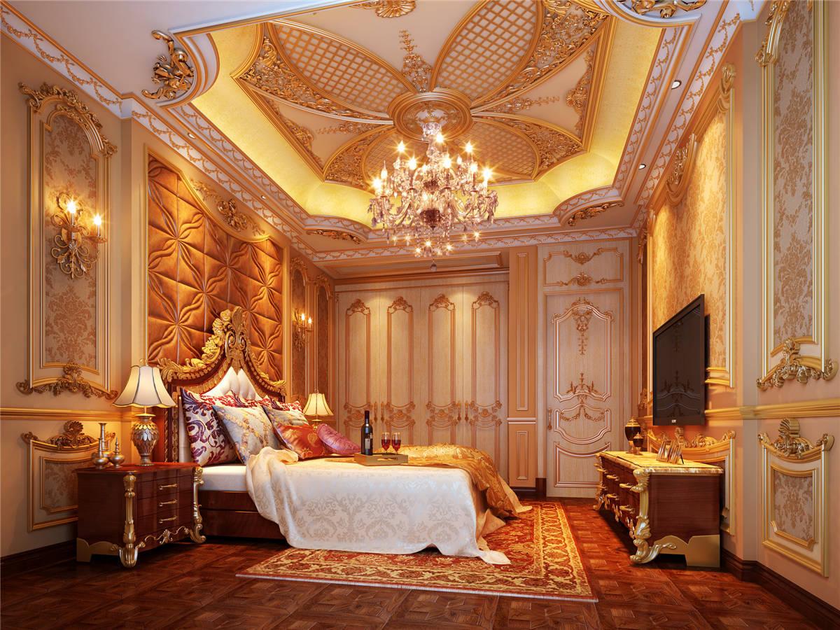 九间堂 别墅装修 欧式古典 卧室图片来自孔继民在九间堂600平别墅新古典风格的分享
