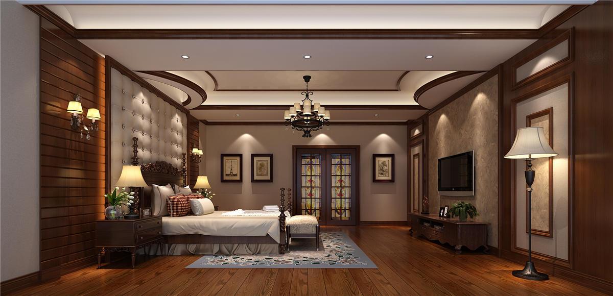 东郊壹号 别墅装修 新中式风格 别墅设计 卧室图片来自孔继民在东郊壹号800平别墅项目装修设计的分享