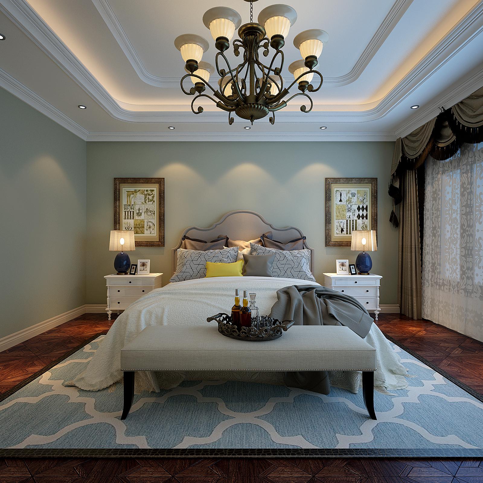 卧室图片来自好百年装饰张艳子在绿地城160㎡的分享