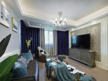 100平美式休闲3居 和谐舒适生活
