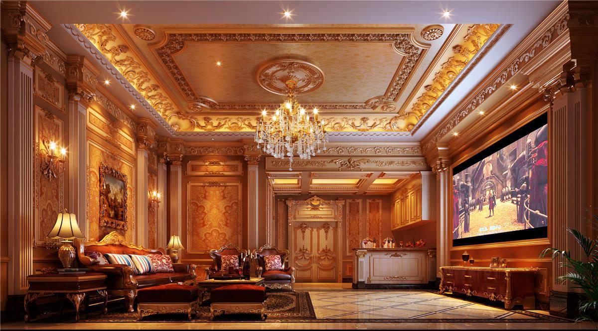 九间堂 别墅装修 欧式古典 客厅图片来自孔继民在九间堂600平别墅新古典风格的分享