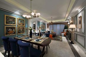 新古典 四居 大户型 跃层 复式 别墅 80后 小资 客厅图片来自高度国际姚吉智在诗雅古典 163平米有品位的住宅的分享