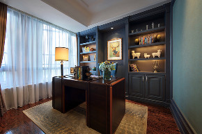 新古典 四居 大户型 跃层 复式 别墅 80后 小资 书房图片来自高度国际姚吉智在诗雅古典 163平米有品位的住宅的分享