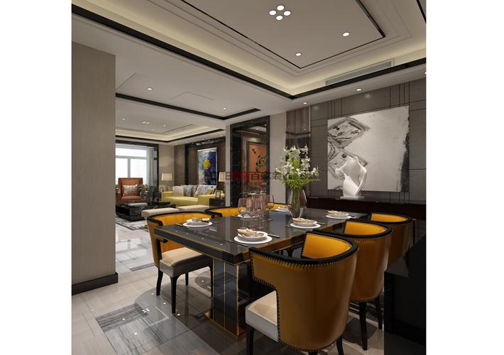 餐厅图片来自沈阳百家装饰小姜在华发首府155平港式风格的分享