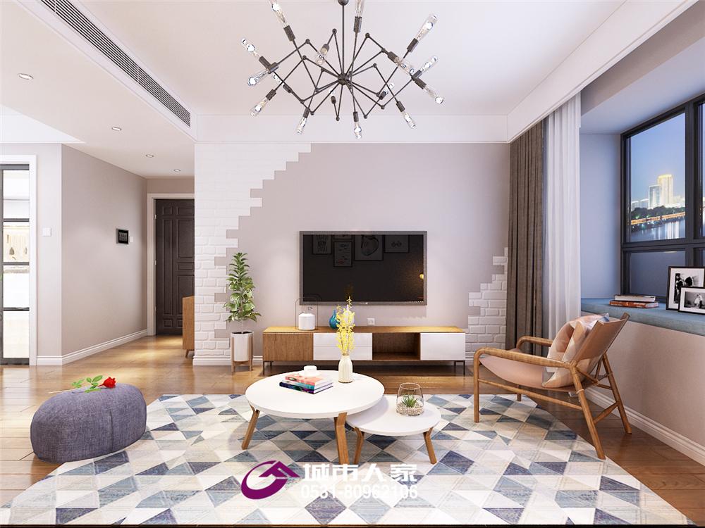 简约 客厅图片来自济南城市人家装修公司-在德润天玺装修北欧风格效果图的分享