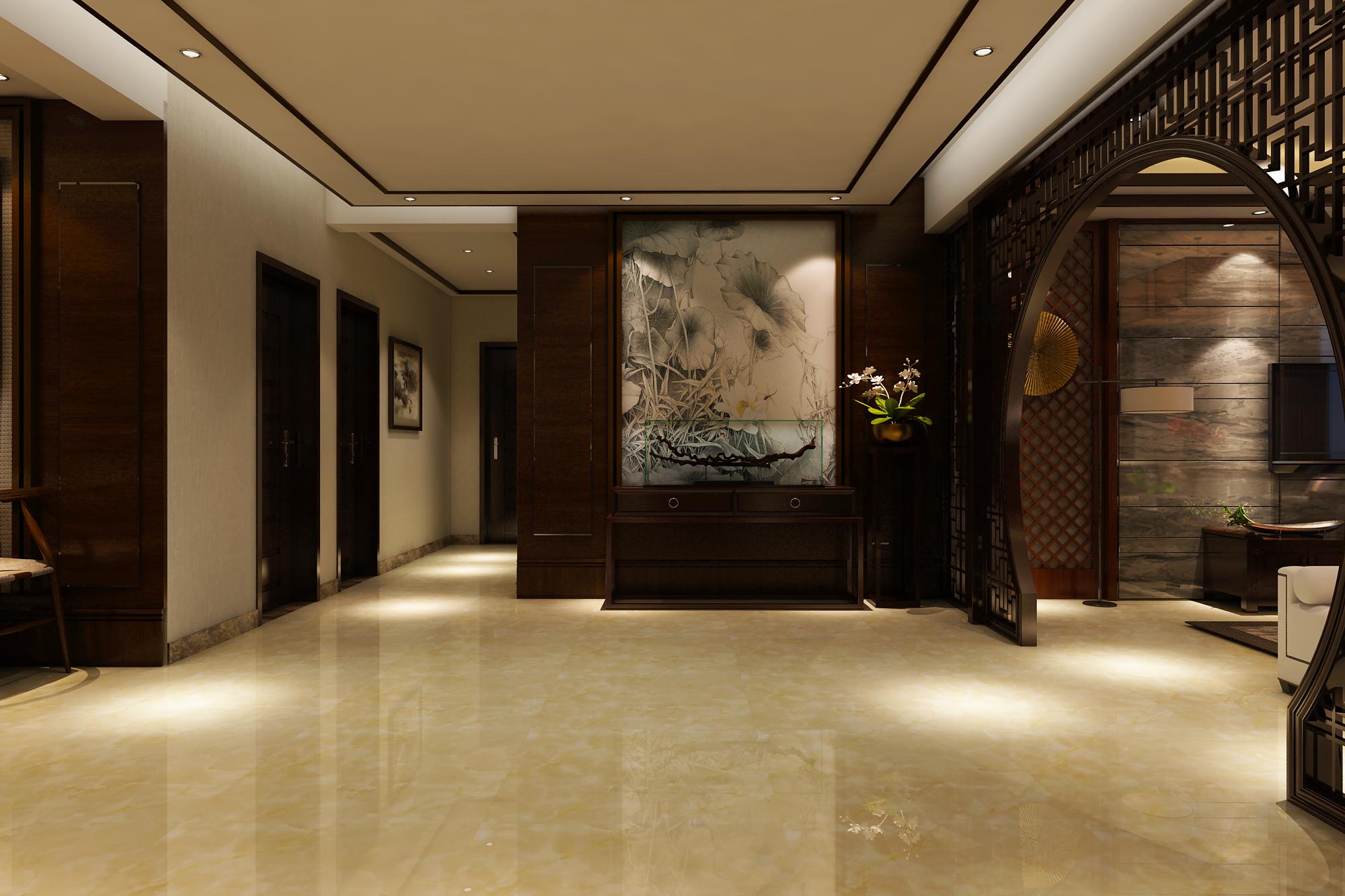 玄关图片来自装家美在上林轩204平米中式风的分享