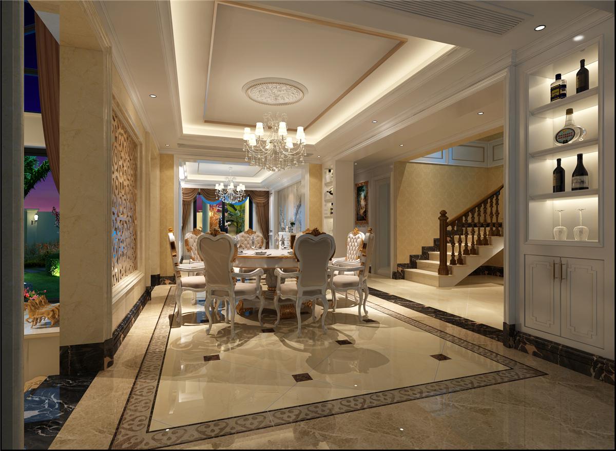 长泰西郊 别墅装修 欧美风格 餐厅图片来自孔继民在长泰西郊别墅装修欧式古典风格的分享
