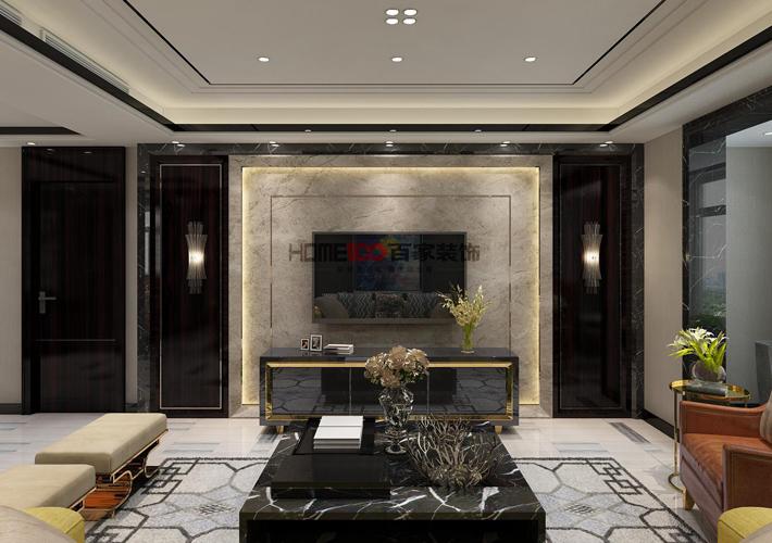 客厅图片来自沈阳百家装饰小姜在华发首府155平港式风格的分享