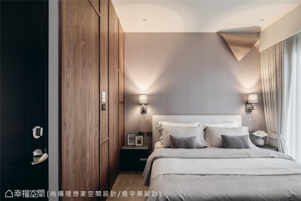 小资 现代风格 装修设计 二居 白领 卧室图片来自幸福空间在79平,几何线条,建构个性化场域的分享