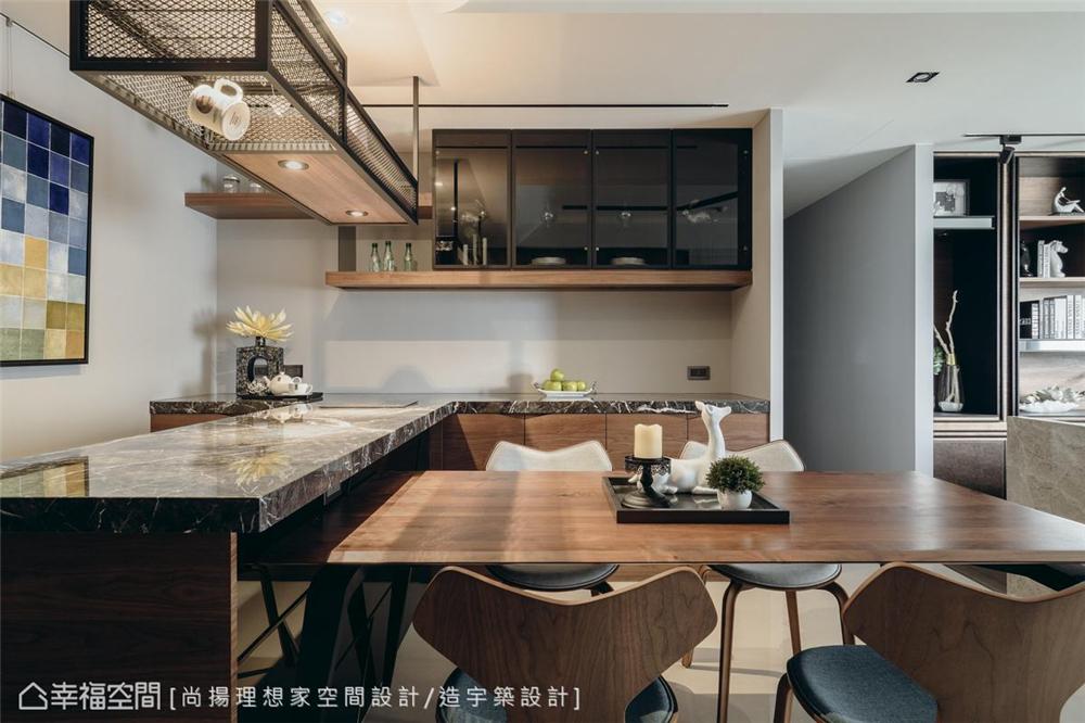小资 现代风格 装修设计 二居 白领 餐厅图片来自幸福空间在79平,几何线条,建构个性化场域的分享